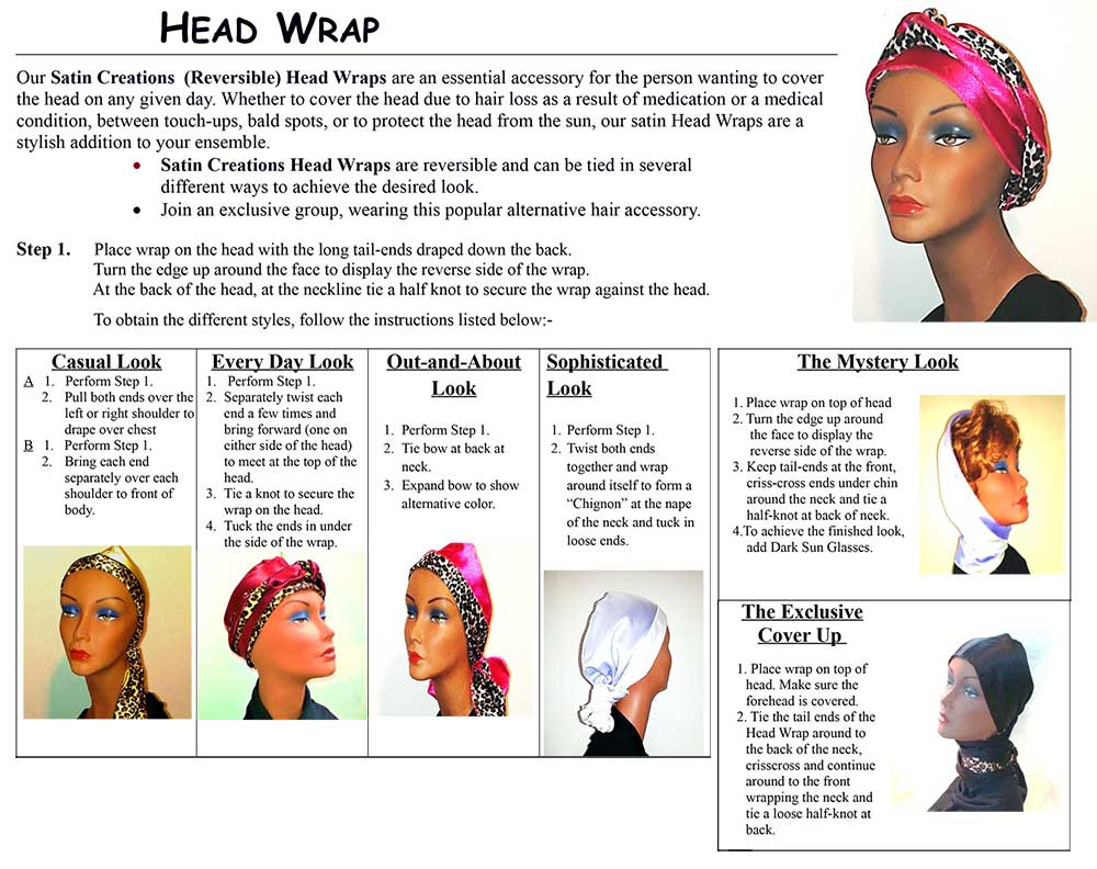 Satin head wrap instructions