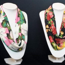Satin scarf - many prints and colours