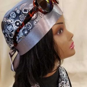 Silver Satin Skull Cap by Satin Creations, Canada
