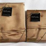 Brown Gold Satin Pillowcases