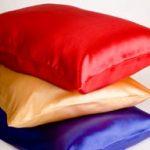 Satin pillows and satin pillowcases