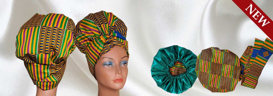 Unique Satin Lined Head Wraps -Satin Creations, Canada